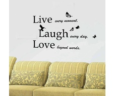 Sticker Classic Live Laugh Love